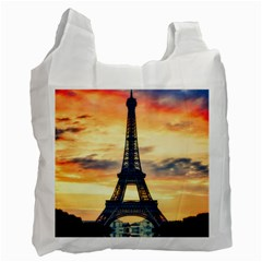 Eiffel Tower Paris France Landmark Recycle Bag (two Side)