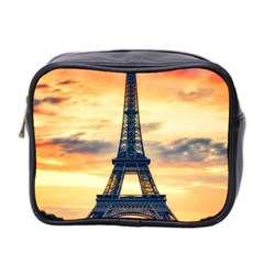 Eiffel Tower Paris France Landmark Mini Toiletries Bag 2 Side by Nexatart