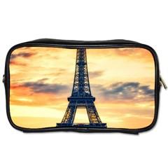 Eiffel Tower Paris France Landmark Toiletries Bags 2 Side