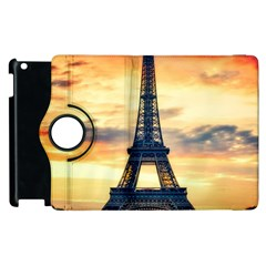 Eiffel Tower Paris France Landmark Apple Ipad 3/4 Flip 360 Case by Nexatart