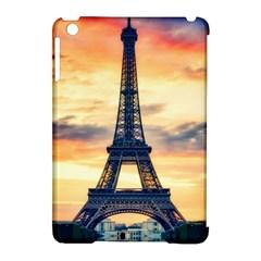 Eiffel Tower Paris France Landmark Apple Ipad Mini Hardshell Case (compatible With Smart Cover) by Nexatart