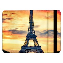 Eiffel Tower Paris France Landmark Samsung Galaxy Tab Pro 12 2  Flip Case by Nexatart