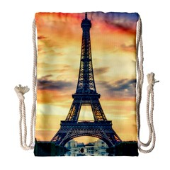 Eiffel Tower Paris France Landmark Drawstring Bag (large)