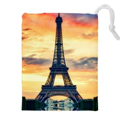 Eiffel Tower Paris France Landmark Drawstring Pouches (xxl)