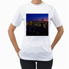San Francisco California City Urban Women s T Shirt (white) (two Sided)