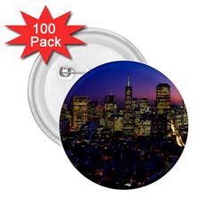 San Francisco California City Urban 2 25  Buttons (100 Pack)