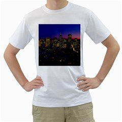 San Francisco California City Urban Men s T Shirt (white) (two Sided)