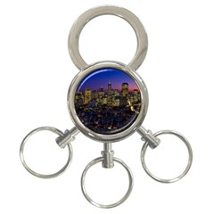 San Francisco California City Urban 3 Ring Key Chains