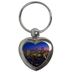 San Francisco California City Urban Key Chains (heart)