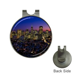 San Francisco California City Urban Hat Clips With Golf Markers