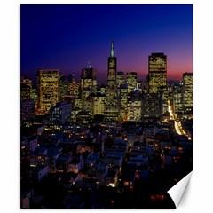 San Francisco California City Urban Canvas 8  X 10  by Nexatart