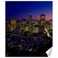 San Francisco California City Urban Canvas 20  X 24