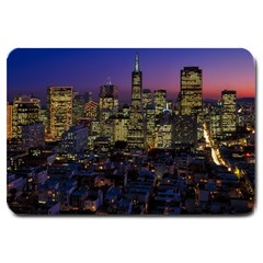 San Francisco California City Urban Large Doormat