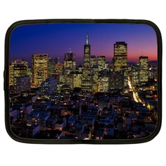 San Francisco California City Urban Netbook Case (large)
