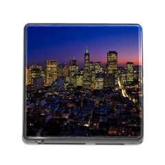 San Francisco California City Urban Memory Card Reader (square)