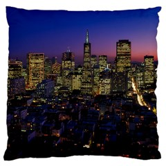 San Francisco California City Urban Large Cushion Case (two Sides)