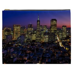 San Francisco California City Urban Cosmetic Bag (xxxl)  by Nexatart