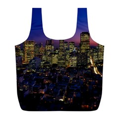 San Francisco California City Urban Full Print Recycle Bags (l)  by Nexatart