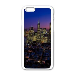 San Francisco California City Urban Apple Iphone 6/6s White Enamel Case by Nexatart