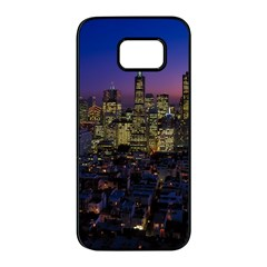 San Francisco California City Urban Samsung Galaxy S7 Edge Black Seamless Case by Nexatart