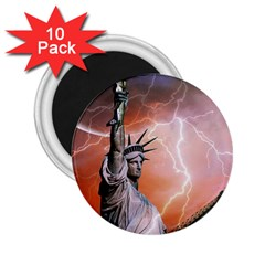 Statue Of Liberty New York 2 25  Magnets (10 Pack)