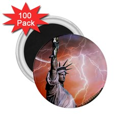 Statue Of Liberty New York 2 25  Magnets (100 Pack)