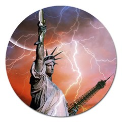 Statue Of Liberty New York Magnet 5  (round)