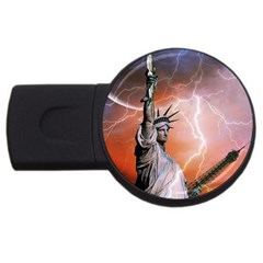 Statue Of Liberty New York Usb Flash Drive Round (2 Gb)