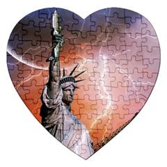 Statue Of Liberty New York Jigsaw Puzzle (heart)
