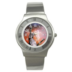 Statue Of Liberty New York Stainless Steel Watch by Nexatart