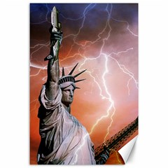 Statue Of Liberty New York Canvas 24  X 36