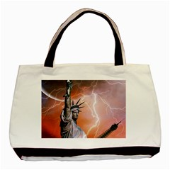 Statue Of Liberty New York Basic Tote Bag (two Sides)