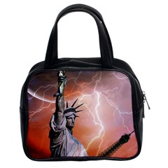 Statue Of Liberty New York Classic Handbags (2 Sides) by Nexatart