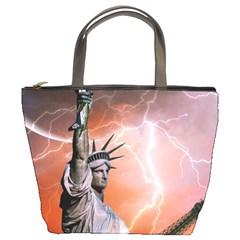 Statue Of Liberty New York Bucket Bags
