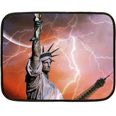 Statue Of Liberty New York Double Sided Fleece Blanket (mini)  by Nexatart
