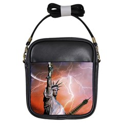 Statue Of Liberty New York Girls Sling Bags by Nexatart