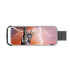 Statue Of Liberty New York Portable Usb Flash (two Sides) by Nexatart