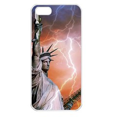 Statue Of Liberty New York Apple Iphone 5 Seamless Case (white)