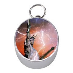 Statue Of Liberty New York Mini Silver Compasses by Nexatart