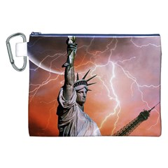 Statue Of Liberty New York Canvas Cosmetic Bag (xxl) by Nexatart