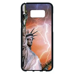 Statue Of Liberty New York Samsung Galaxy S8 Plus Black Seamless Case