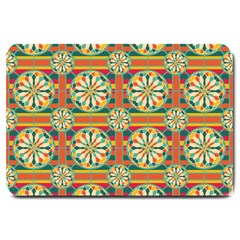 Eye Catching Pattern Large Doormat  by linceazul