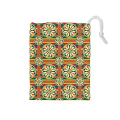 Eye Catching Pattern Drawstring Pouches (medium)  by linceazul