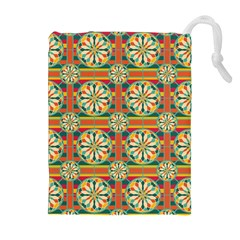 Eye Catching Pattern Drawstring Pouches (extra Large) by linceazul
