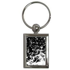 Black And White Splash Texture Key Chains (rectangle)  by dflcprints