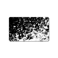 Black And White Splash Texture Magnet (name Card) by dflcprints