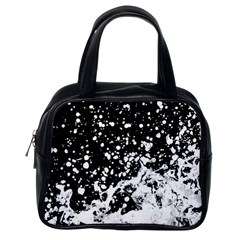 Black And White Splash Texture Classic Handbags (one Side) by dflcprints