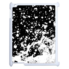 Black And White Splash Texture Apple Ipad 2 Case (white) by dflcprints
