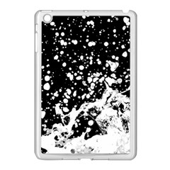 Black And White Splash Texture Apple Ipad Mini Case (white) by dflcprints