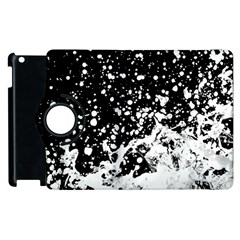 Black And White Splash Texture Apple Ipad 3/4 Flip 360 Case by dflcprints